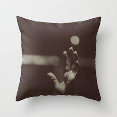 raised hands Throw Pillow