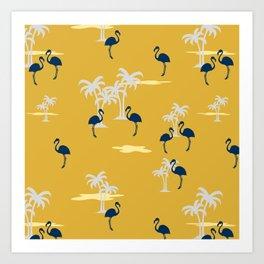 Coral Sands (gold) Art Print