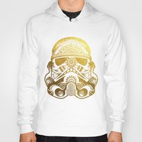 gold foil Hoodies featuring Mandala StormTrooper - Gold Foil by Spectronium - Art by Pat McWain