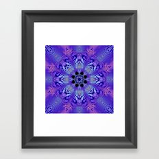 Pink, purple and sand kaleidoscope Framed Art Print