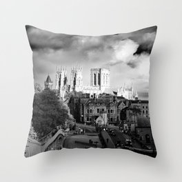 York Minster and walls in the sun Throw Pillow