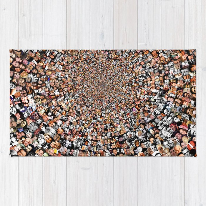 The Work 3000 Famous And Infamous Faces Collage Rug By