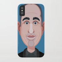 seinfeld iPhone & iPod Cases featuring Comics of Comedy: Jerry Seinfeld by XK9 Works