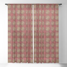 Yule Mandala Sheer Curtain