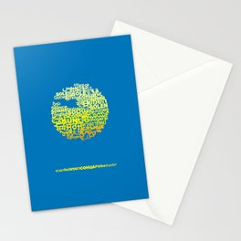 Sun in Different Languages Stationery Cards