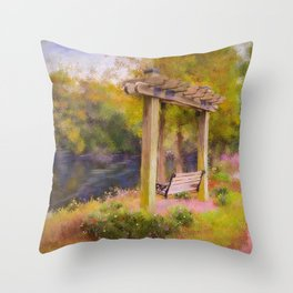 Conway River Walk Throw Pillow