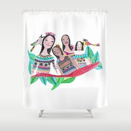 The southamerican girls Shower Curtain