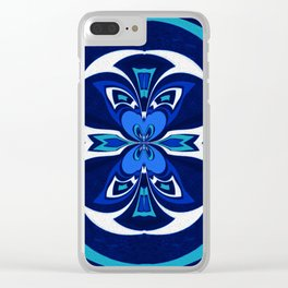 Pacific Northwest Coast Native Medallion Clear iPhone Case