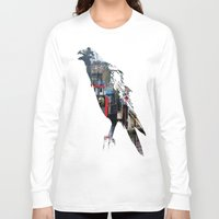 raven Long Sleeve T-shirts featuring Raven by Jeffrey J. Irwin