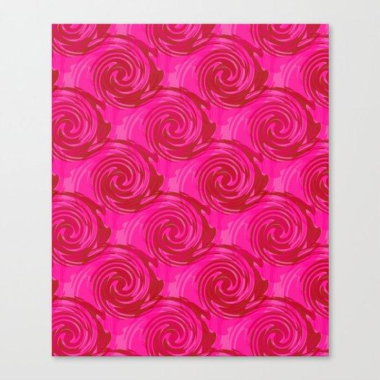 Abstract pattern in bright crimson tone. crimson . Canvas Print