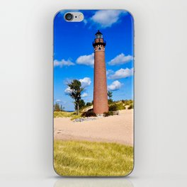 """""""Little Sable Point Lighthouse"""" iPhone Skin"""