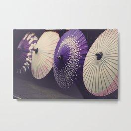 Colorful Japanese Umbrellas Metal Print