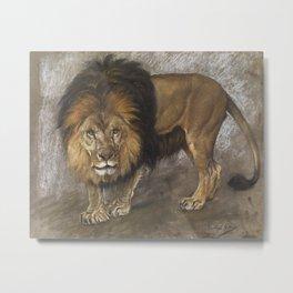 Border Lion by Geza Vastagh Metal Print