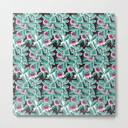 Powder Puff Metal Print