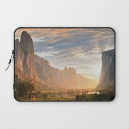 Classical Masterpiece Yosemite Valley by Albert Bierstadt Laptop Sleeve