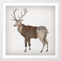 stag Art Prints featuring Stag by David Fleck