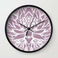purple lotus Wall Clock
