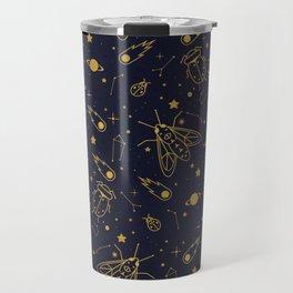 Golden Celestial Bugs Travel Mug