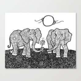 elephants never forget Canvas Print