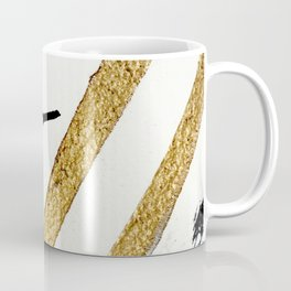 Armor [8]: a minimal abstract piece in black white and gold by Alyssa Hamilton Art Coffee Mug