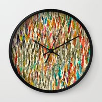 hippy Wall Clocks featuring Hippy Style by thinschi