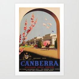 Canberra Travel Poster Art Print