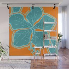 Kailua Hibiscus Hawaiian Engineered Floral Wall Mural