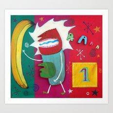 Banana Art Print