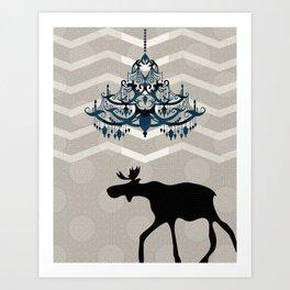 A Moose finds home Art Print