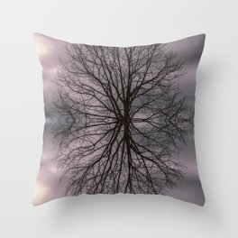 Oak tree before the storm #2 Throw Pillow