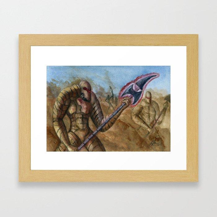 Devils In The Dust Framed Art Print