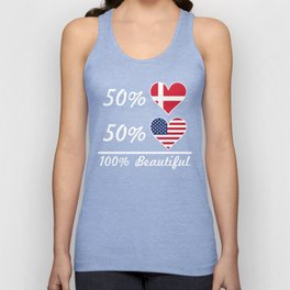 50% Danish 50% American 100% Beautiful Unisex Tank Top