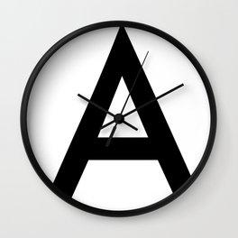 Alphabet A Wall Clock