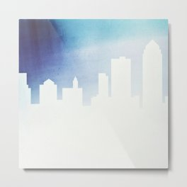White Out Des Moines Metal Print