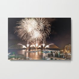 Portovenere Fireworks Metal Print