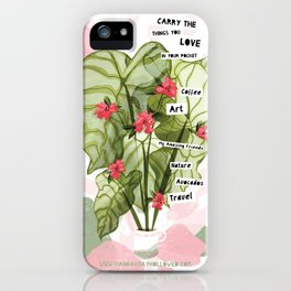 Carry the things you love in your pocket iPhone Case