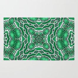 abstract jewel green Rug
