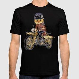 Cat riding motorcycle T-shirt