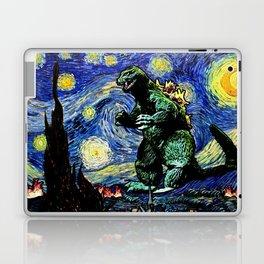 Godzilla versus Starry Night Laptop & iPad Skin