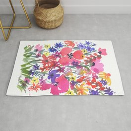 Little Pink Poppies Rug