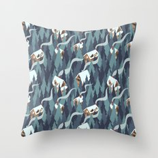 Forest Cabins Throw Pillow