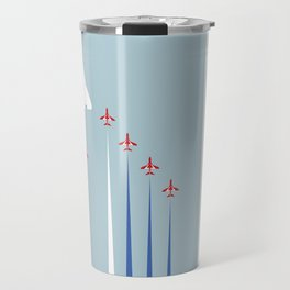 Concorde And The Red Arrows Flyover Travel Mug