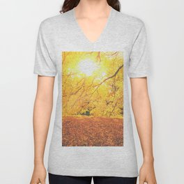 New York City Autumn Sun Unisex V-Neck
