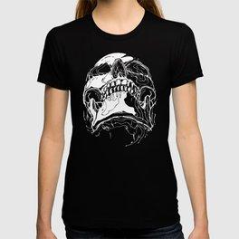 Carnibal / Ink Skull / White T-shirt