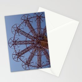 Red Parachute Jump Coney Island Stationery Cards