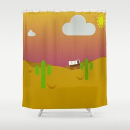 Old West, Texas Shower Curtain