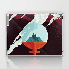 NASA Retro Space Travel Poster #3 - Enceladus Laptop & iPad Skin
