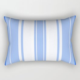 Strips - blue and white. Rectangular Pillow