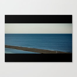 Wide Ocean Beach (Landscape) Canvas Print