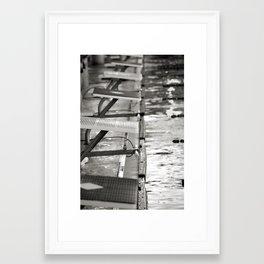 Starting blocks Framed Art Print
